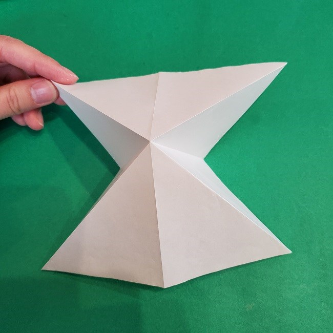 セーラームーンの折り紙の折り方作り方☆ドレス (8)