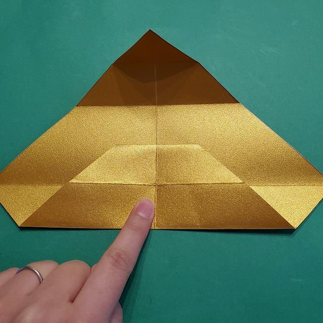 セーラームーンティアラの作り方(折り紙) (9)