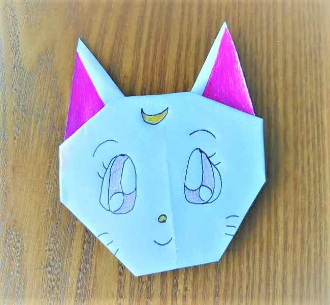 セーラームーン ルナの折り紙の折り方☆アルテミスにも応用できちゃう作り方を紹介
