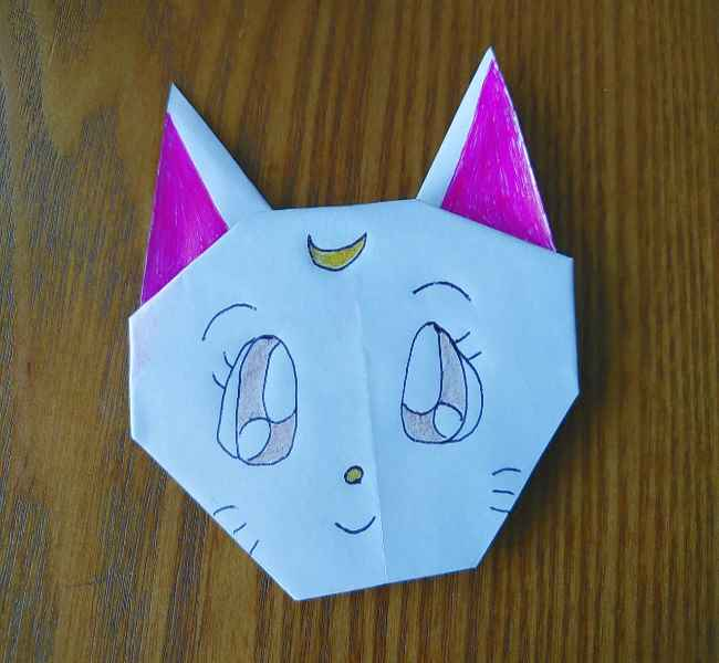 セーラームーン ルナの折り紙*折り方作り方 (10)
