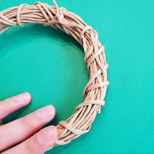 トトロのリースを手作りする方法*折り方作り方土台 (6)