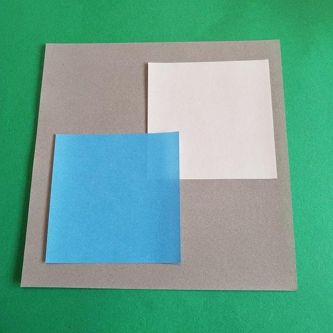 トトロのリース(折り紙)*用意するもの (1)