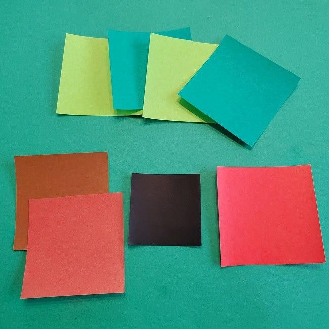 トトロのリース(折り紙)*用意するもの (2)