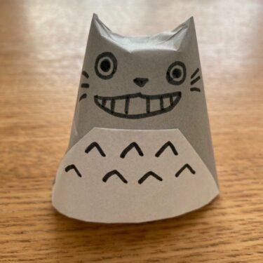 トトロ折り紙の指人形の作り方折り方☆簡単に子供のおもちゃを手作り♪