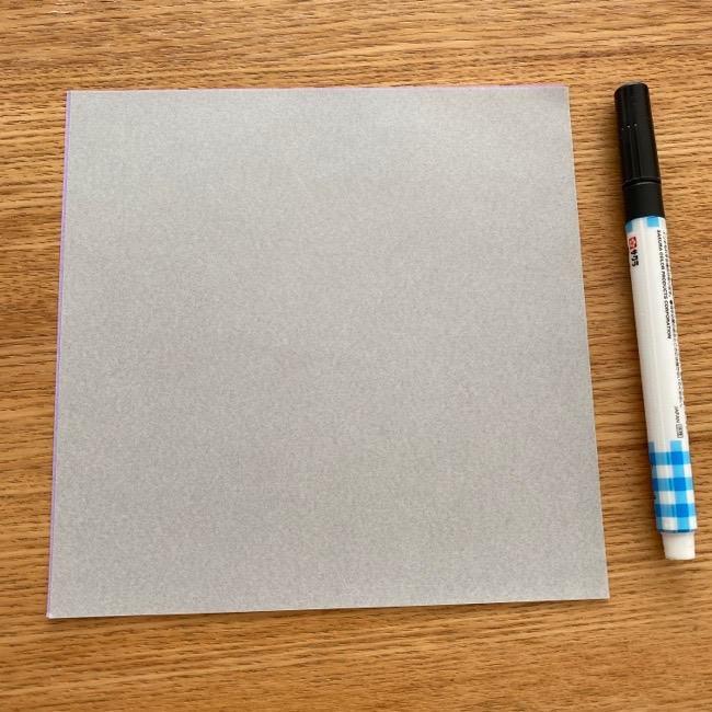 トトロ指人形の折り紙*用意する物