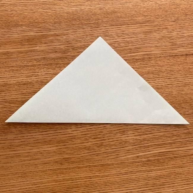 トトロ 葉っぱの傘の折り紙*折り方作り方1