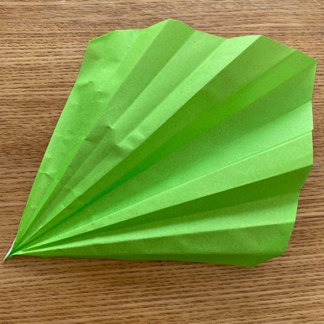 トトロ 葉っぱの傘の折り紙*折り方作り方10