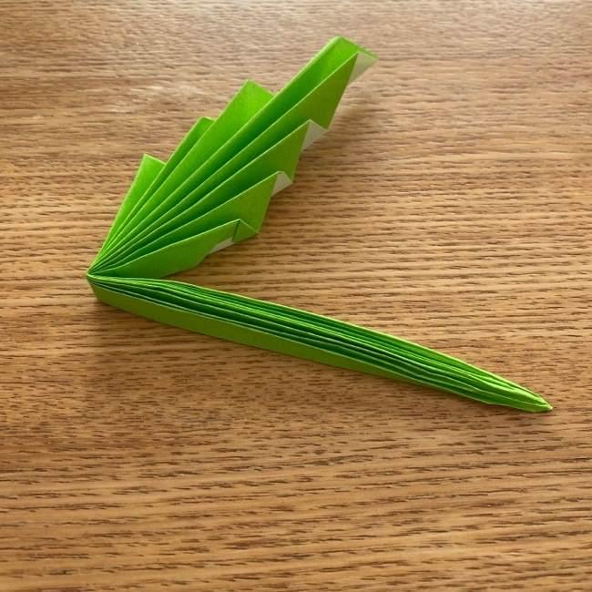 トトロ 葉っぱの傘の折り紙*折り方作り方14