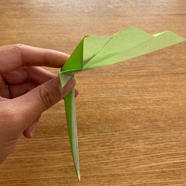 トトロ 葉っぱの傘の折り紙*折り方作り方16