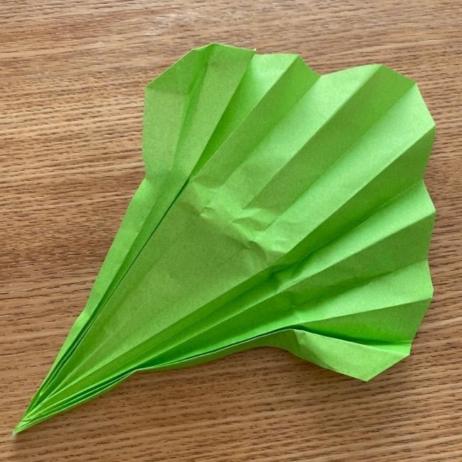 トトロ 葉っぱの傘の折り紙*折り方作り方17