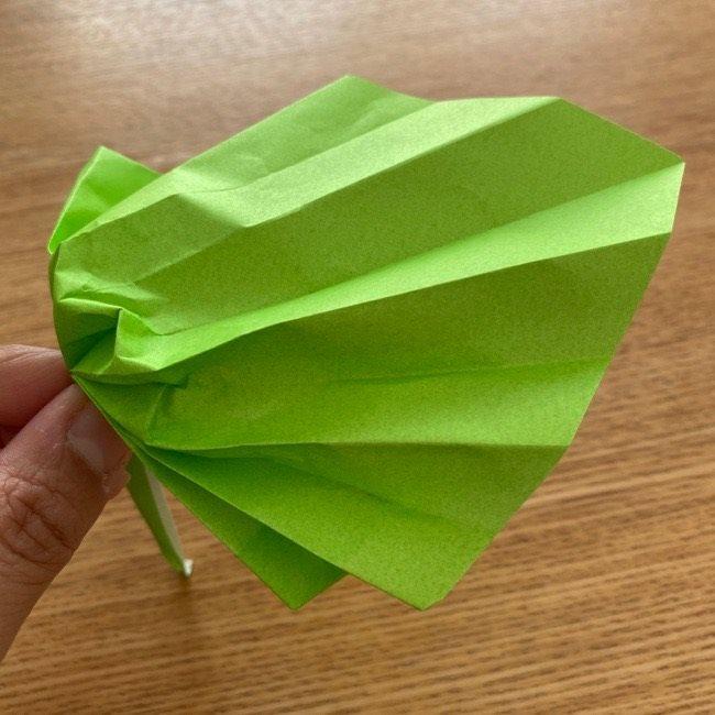 トトロ 葉っぱの傘の折り紙*折り方作り方18