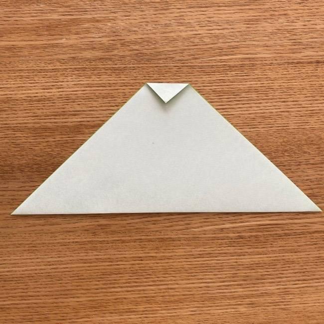 トトロ 葉っぱの傘の折り紙*折り方作り方2