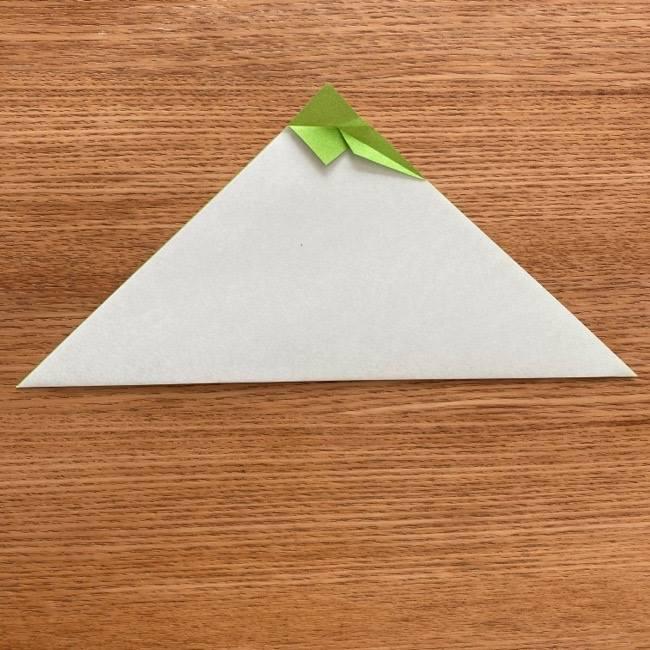 トトロ 葉っぱの傘の折り紙*折り方作り方4