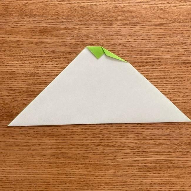 トトロ 葉っぱの傘の折り紙*折り方作り方5