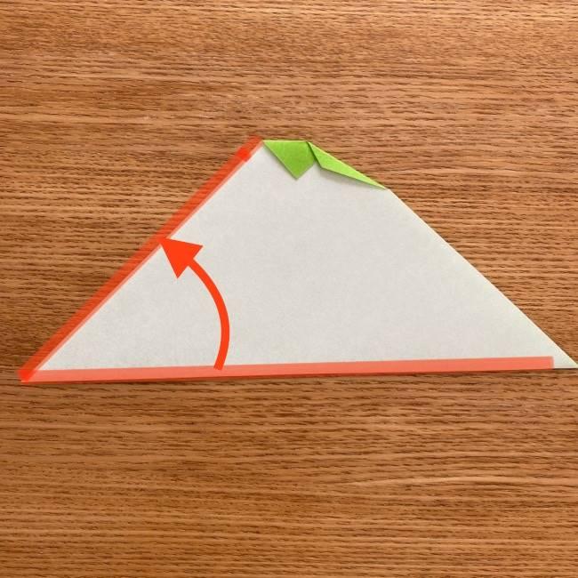 トトロ 葉っぱの傘の折り紙*折り方作り方6