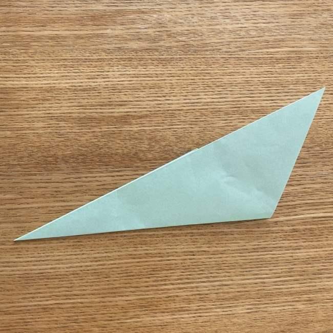 トトロ 葉っぱの傘の折り紙*折り方作り方7
