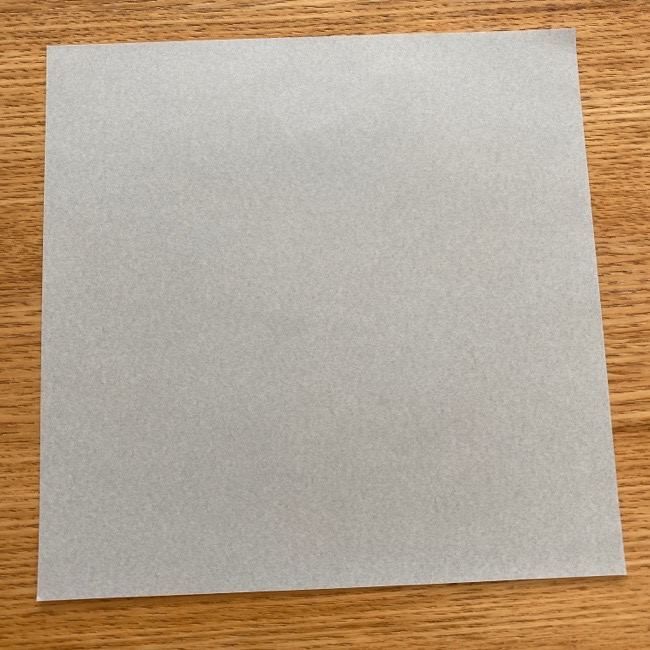 トトロ 折り紙の指人形の作り方折り方 (1)