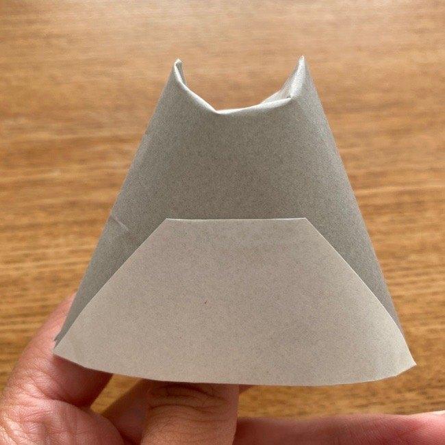 トトロ 折り紙の指人形の作り方折り方 (10)
