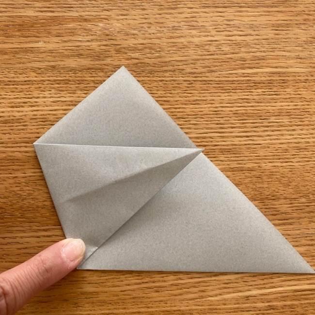 トトロ 折り紙の指人形の作り方折り方 (5)