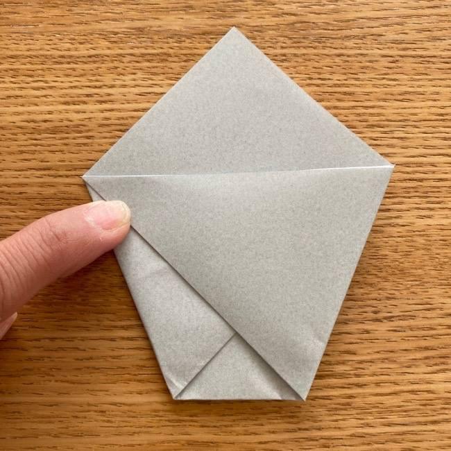 トトロ 折り紙の指人形の作り方折り方 (6)