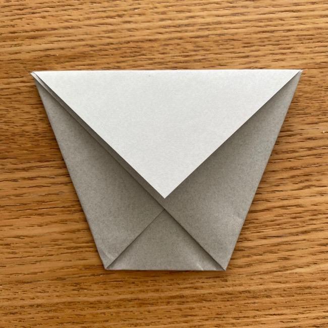 トトロ 折り紙の指人形の作り方折り方 (8)
