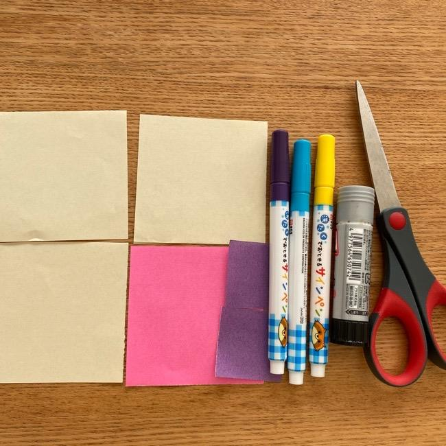 プリキュアの折り紙ラテ*用意する物