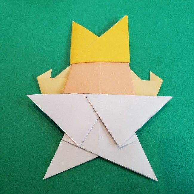 ペーパーマリオ オリガミキング『オリビア』の折り方作り方 (70)