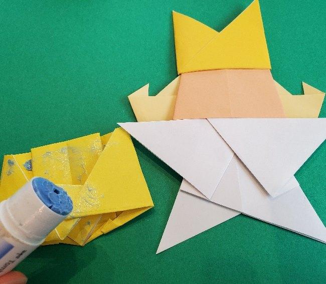 ペーパーマリオ オリガミキング『オリビア』の折り方作り方 (72)