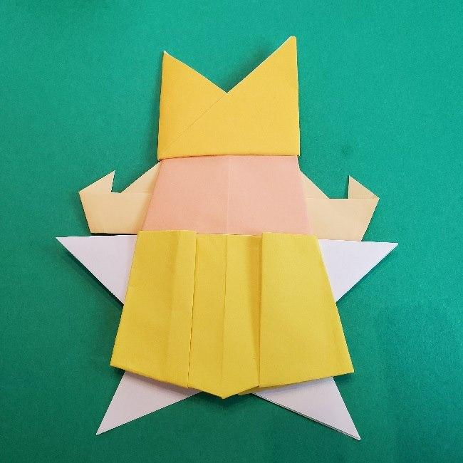 ペーパーマリオ オリガミキング『オリビア』の折り方作り方 (73)