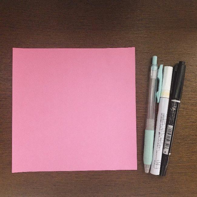 ポケットモンスター ミュウの折り紙*用意するもの