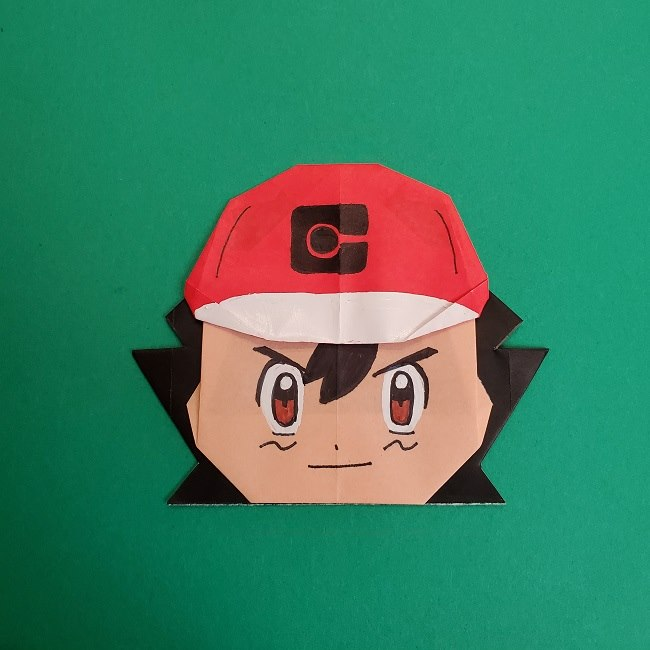 ポケモンの折り紙サトシの作り方★簡単な折り方でできるアニメキャラクター