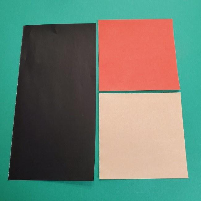 ポケモンの折り紙 サトシ*用意するもの (1)