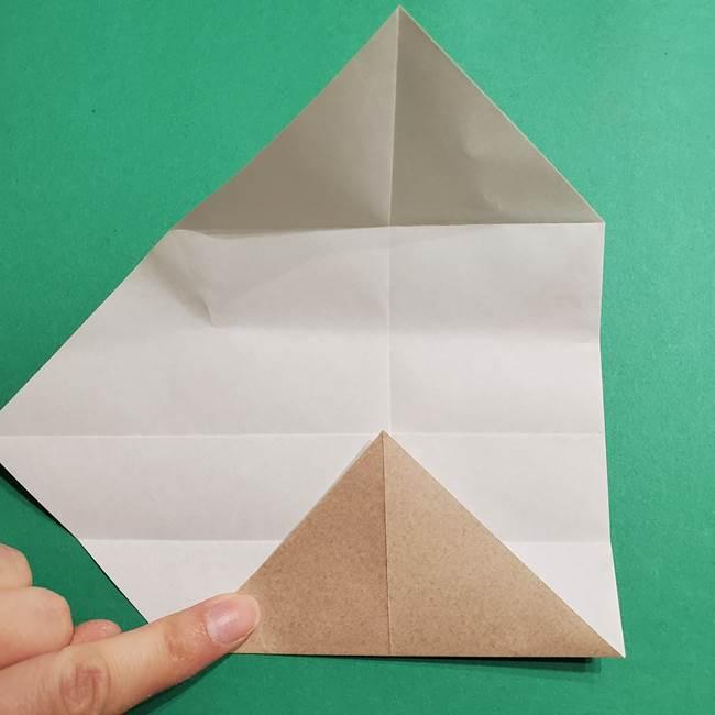 ポケモン(ポケットモンスター)折り紙のディグダの折り方作り方(10)