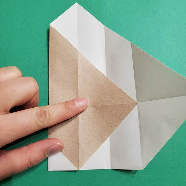 ポケモン(ポケットモンスター)折り紙のディグダの折り方作り方(13)