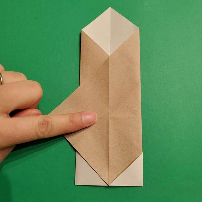 ポケモン(ポケットモンスター)折り紙のディグダの折り方作り方(14)