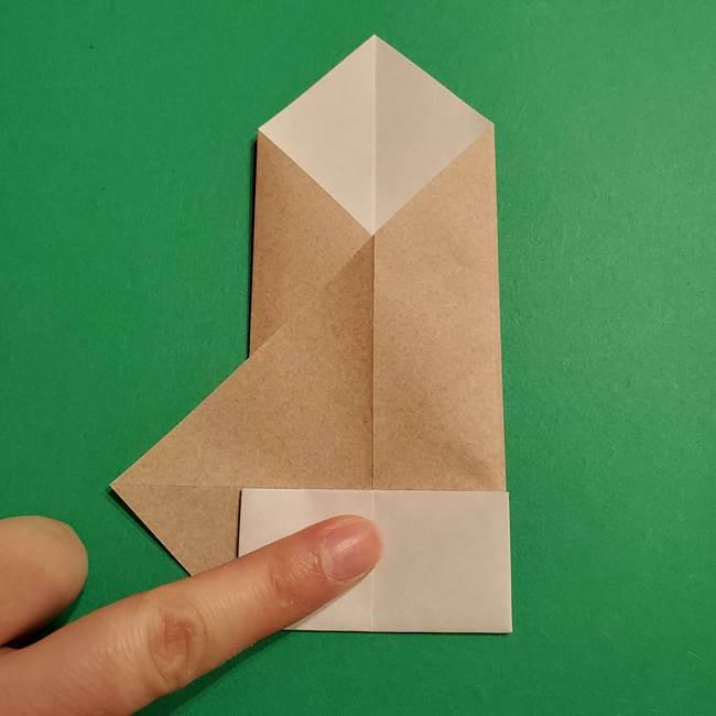 ポケモン(ポケットモンスター)折り紙のディグダの折り方作り方(15)