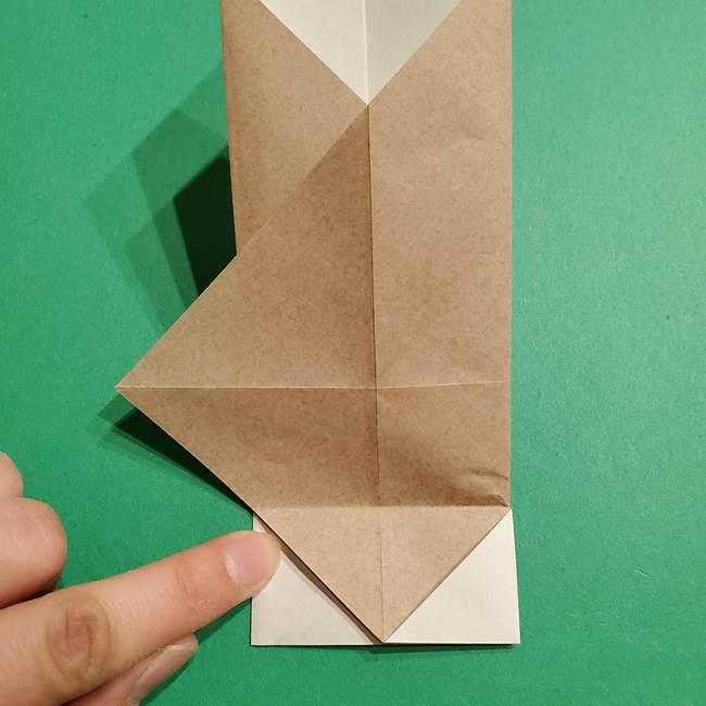 ポケモン(ポケットモンスター)折り紙のディグダの折り方作り方(16)