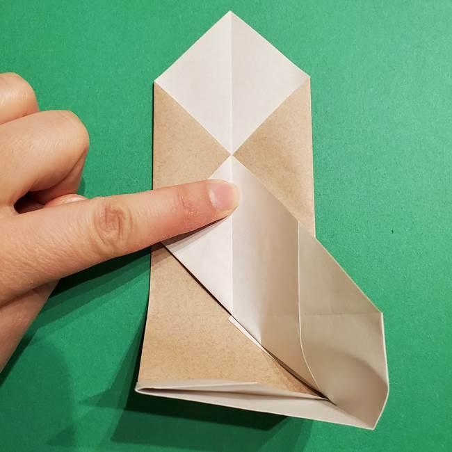 ポケモン(ポケットモンスター)折り紙のディグダの折り方作り方(17)