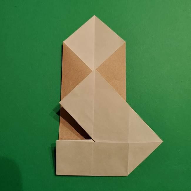 ポケモン(ポケットモンスター)折り紙のディグダの折り方作り方(18)