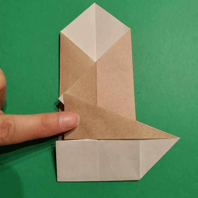 ポケモン(ポケットモンスター)折り紙のディグダの折り方作り方(19)