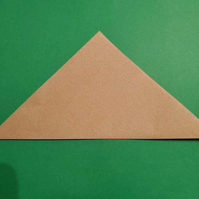 ポケモン(ポケットモンスター)折り紙のディグダの折り方作り方(2)