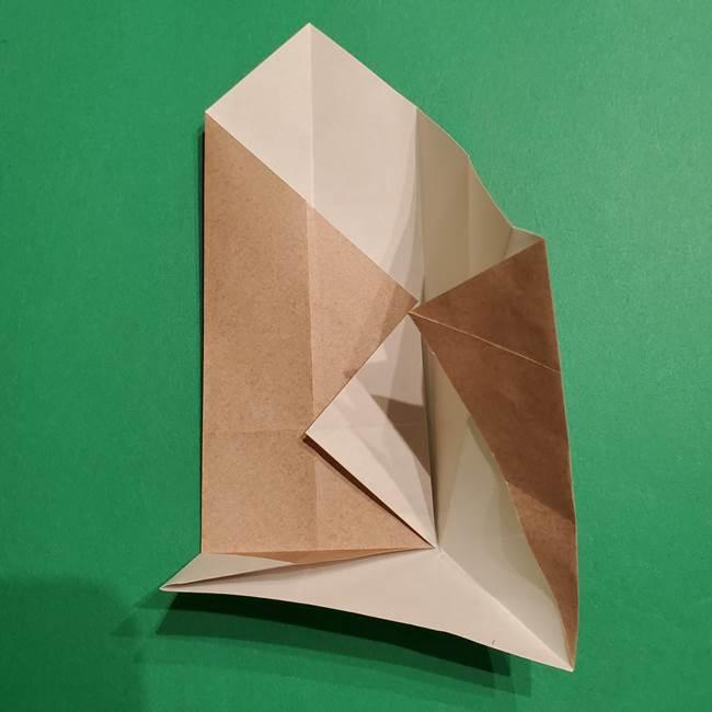 ポケモン(ポケットモンスター)折り紙のディグダの折り方作り方(20)