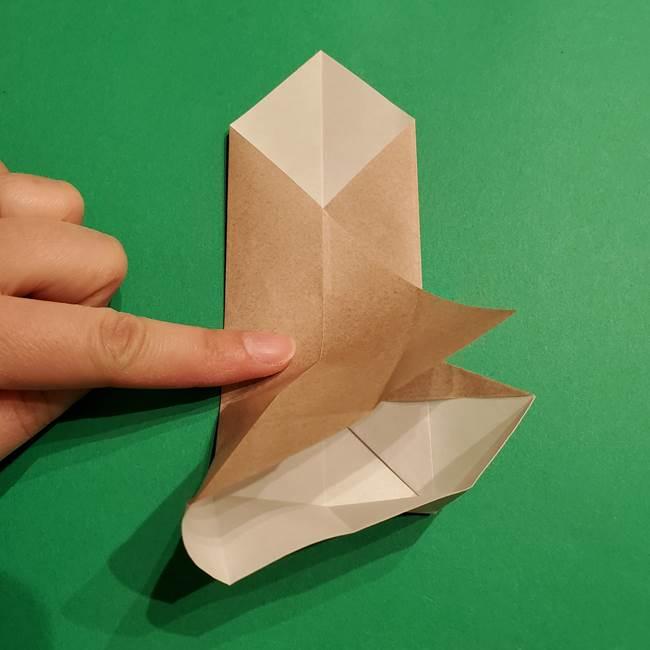 ポケモン(ポケットモンスター)折り紙のディグダの折り方作り方(21)