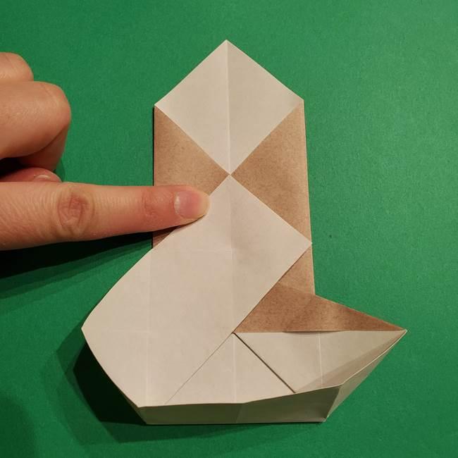 ポケモン(ポケットモンスター)折り紙のディグダの折り方作り方(22)