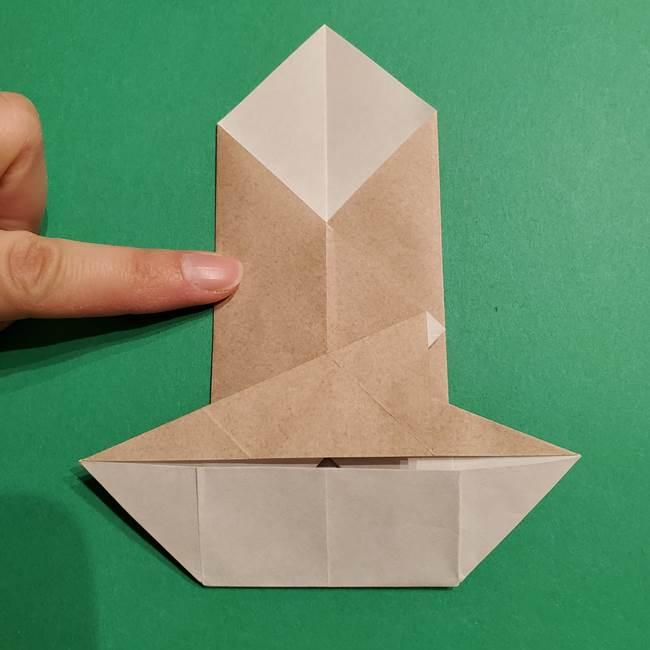 ポケモン(ポケットモンスター)折り紙のディグダの折り方作り方(23)