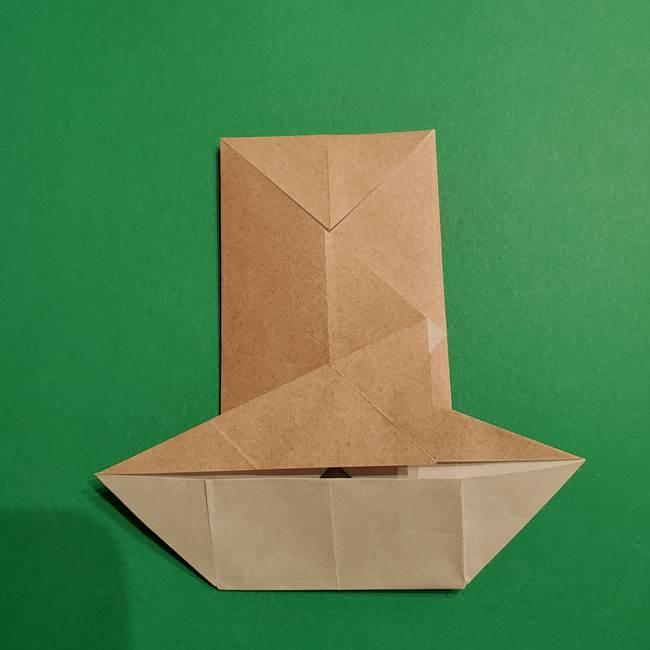 ポケモン(ポケットモンスター)折り紙のディグダの折り方作り方(24)