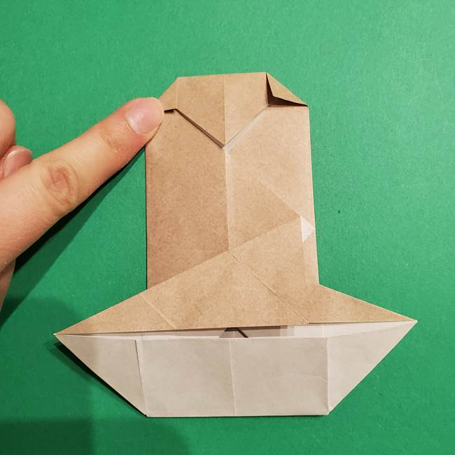 ポケモン(ポケットモンスター)折り紙のディグダの折り方作り方(25)