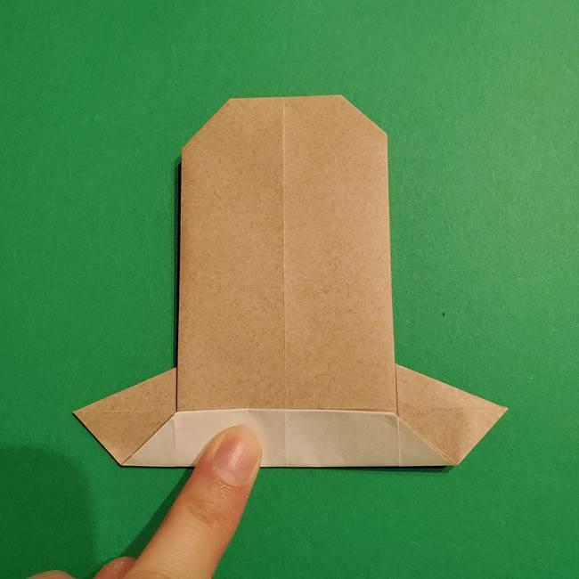 ポケモン(ポケットモンスター)折り紙のディグダの折り方作り方(27)