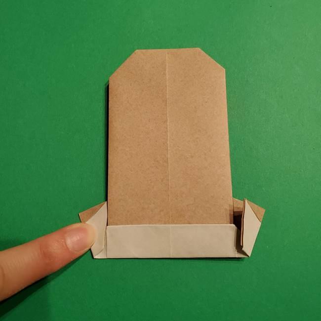 ポケモン(ポケットモンスター)折り紙のディグダの折り方作り方(28)