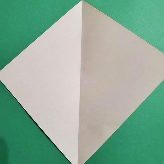 ポケモン(ポケットモンスター)折り紙のディグダの折り方作り方(3)
